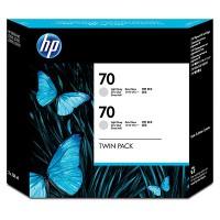 HP 70 Light Grey Dual Pack