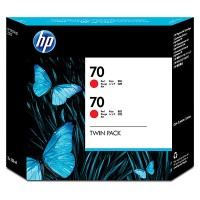 HP 70 Red Dual Pack