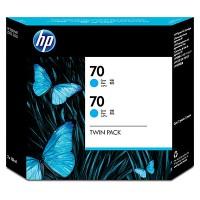 HP 70 Cyan Dual Pack