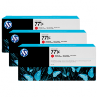 HP 771C Chromatic Red Tri-Pack