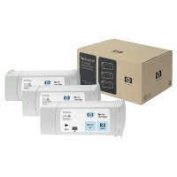 HP 83 UV Light Cyan Tri-Pack