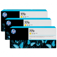 HP 771C Yellow Tri-Pack